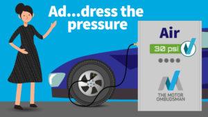 Address the tyre pressure